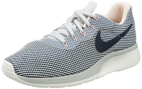 Nike Women's Tanjun Racer Running Shoe Pure Platinum/Armory Navy-Armory  Blue 7