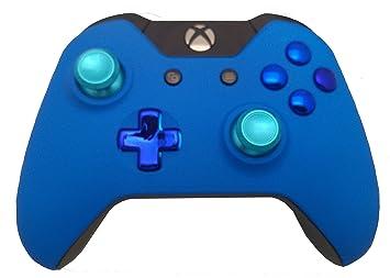 BlackZone Controller Blue Pro Mod – Custom Soft Touch, Chrome Button Kit, Aluminium Thumbsticks