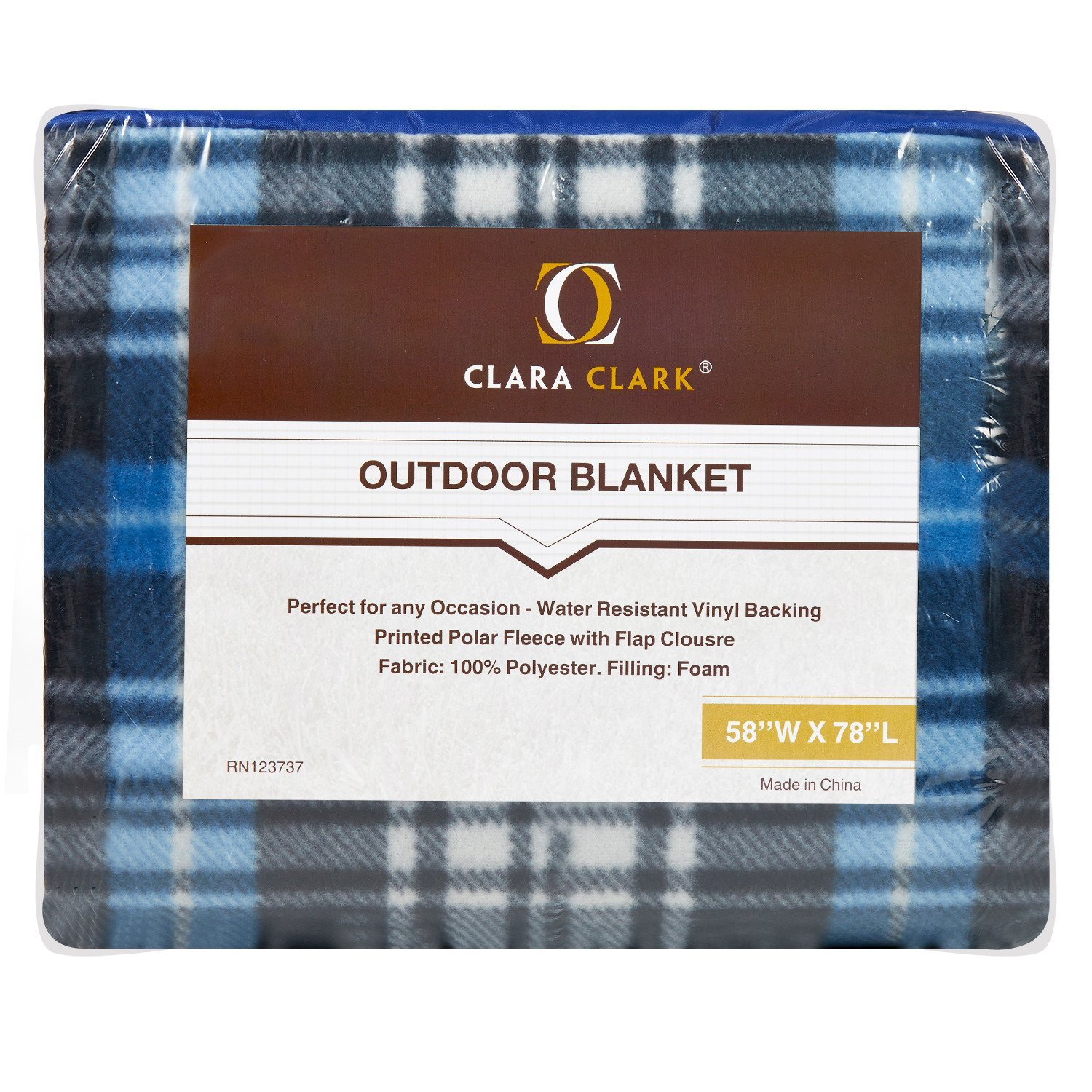 """Carrying Straps Vend/_picn-blnkt/_pastl Lightweight and Foldable Water Resistant Mildew Resistant Material Clara Clark Camping Extra Large 58/"""" x 78/"""" Picnic Outdoor Blanket Pastel Stripes"""