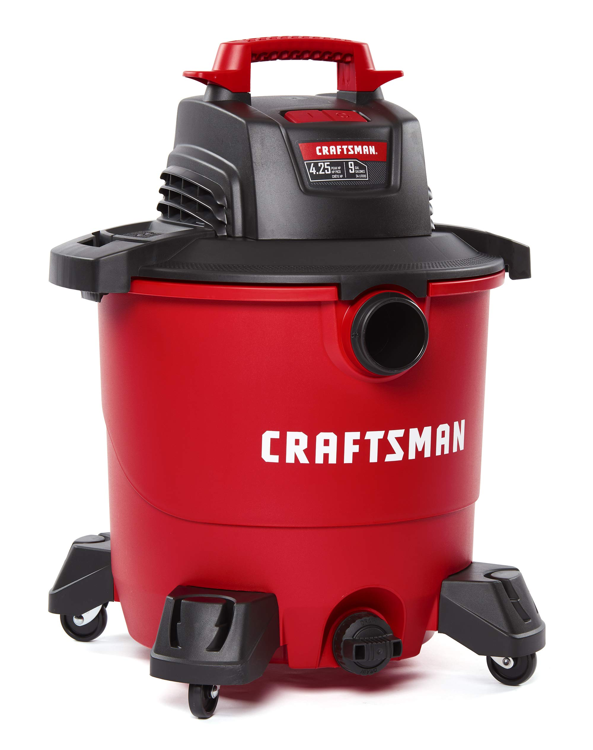 CRAFTSMAN CMXEVBE17590 9 Gallon 4.25 Peak HP Wet/Dry Vac, Portable Shop Vacuum with Attachments by Craftsman