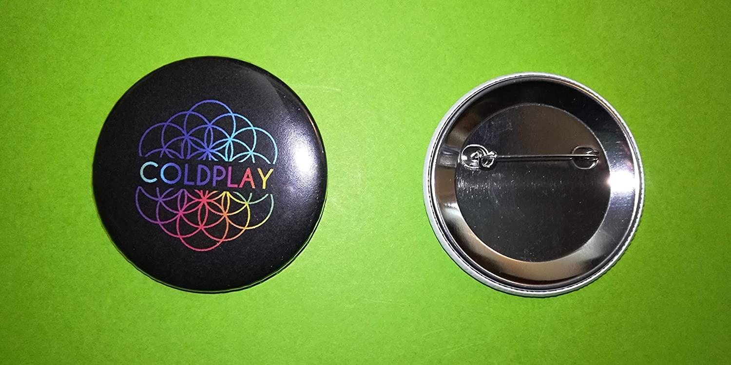 BLUE HAWAI BA1078 Transport Offert//Badge 56 MM//Neuf//Coldplay