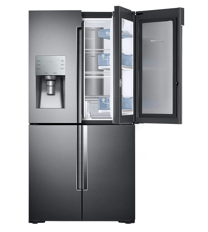 ft Black Stainless Steel French Door Refrigerator with 27.8 cu Capacity, RF28K9380SG Black Stainless Steel 36 Energy Star Freestanding Door in Door