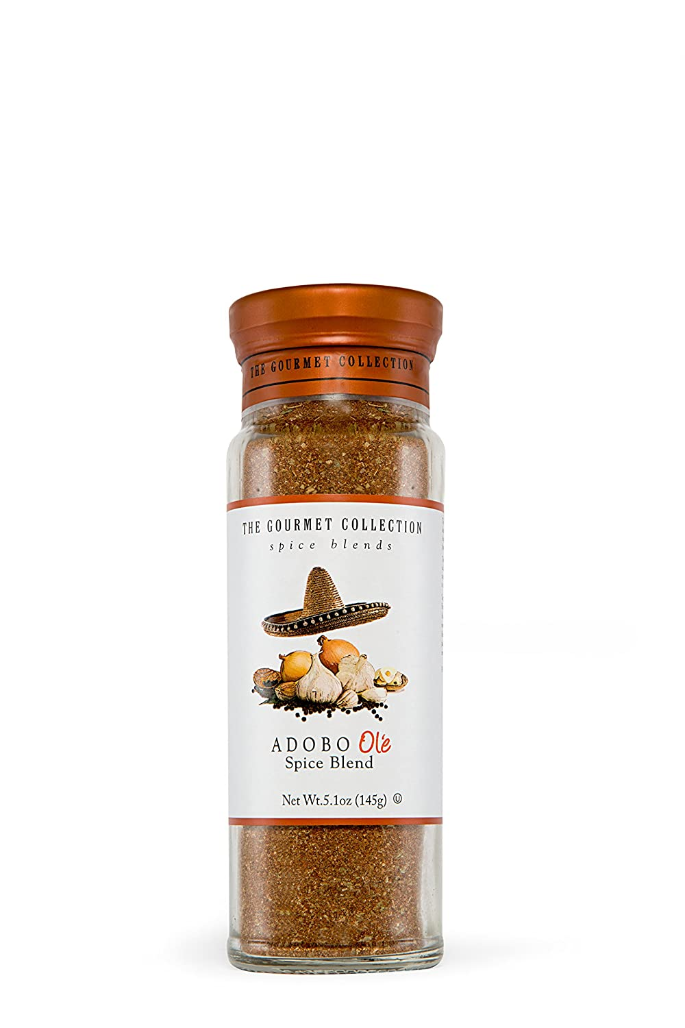 The Gourmet Collection Seasoning & Spice Blends Adobo Ole Spice Blend: Cooking Seasoning for Spanish, Mexican Tacos, Rice, Pork, Chicken. 156 Servings