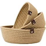 Goodpick 3pack Small Basket - Woven Jute Storage Basket for Kitchen Corner Basket for Snack Storage Cute Basket for…