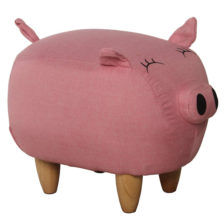 tienda de bajo costo súpernova Decoracion_ Puf Infantil Cerdo Cerdo Cerdo con Patas Madera Pino-Tela Poliéster Medidas_41x29x29cm  mejor calidad