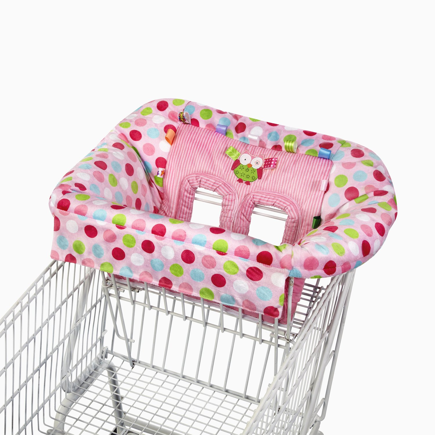 Amazon Taggies Cozy Cart Cover Pink Baby Shopping Cart