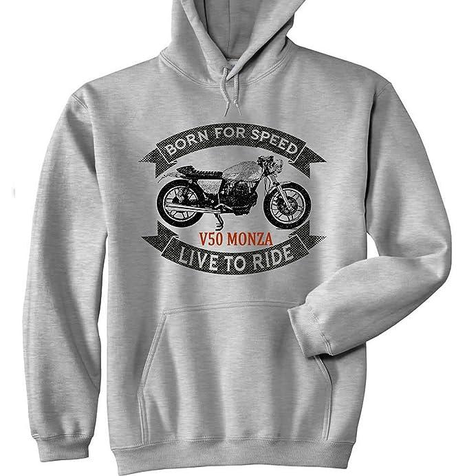 TEESANDENGINES Moto Guzzi V50 Monza Sudadera con Capucha: Amazon.es: Ropa y accesorios