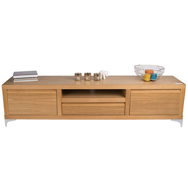 treesure lowboard n eiche massiv massivholzlowboard sideboard wohnwand kommode. Black Bedroom Furniture Sets. Home Design Ideas