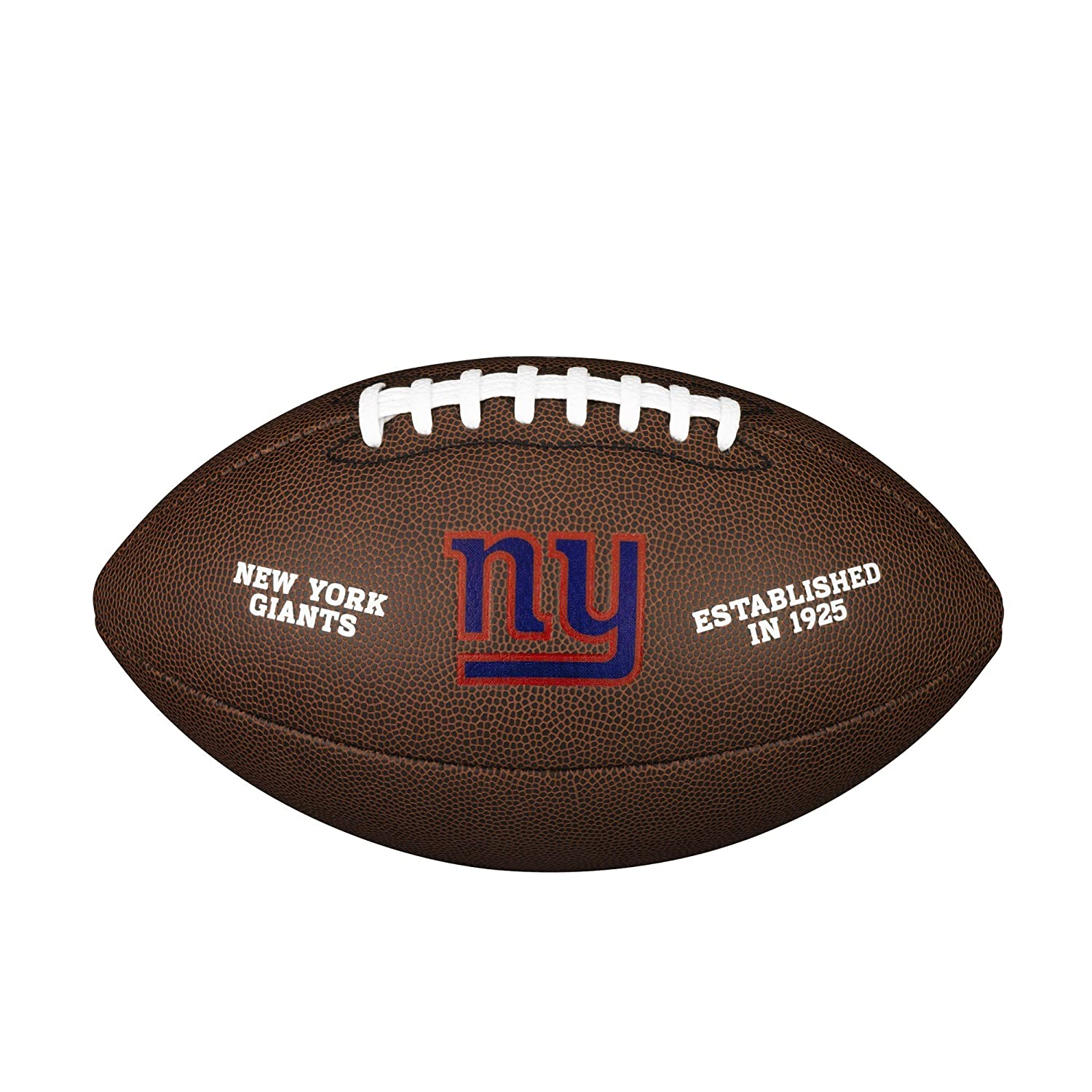 New York Giants NFL Composite Wilson Logo Football by Wilson WTF1748NYG