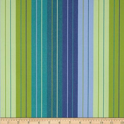 Amazon Com Sunbrella Stripe Seaside Outdoor Canvas Seville Fabric