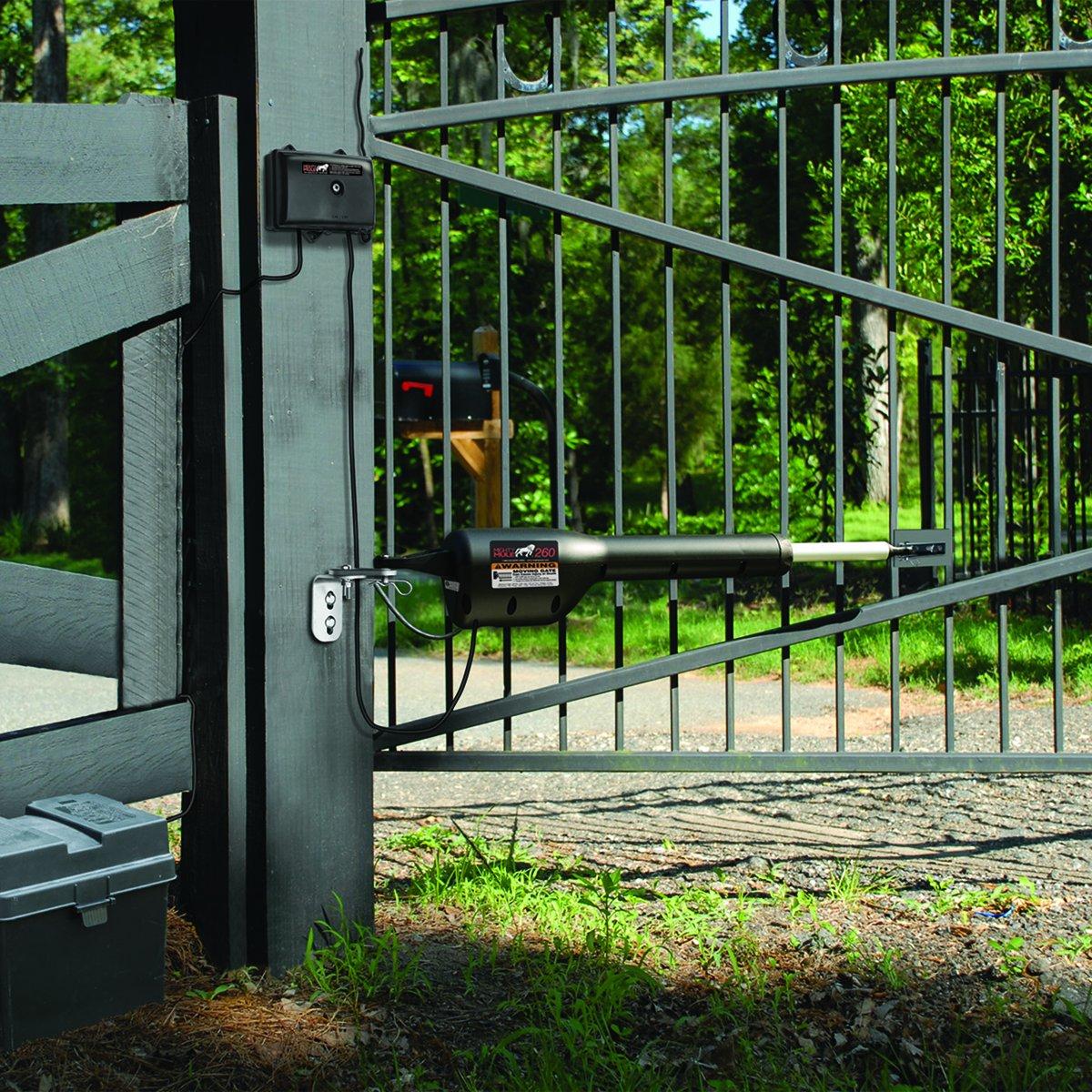 Mighty Mule MM260 Solar Package - Light Duty Single Gate Opener w/ Solar Panel (5 Watt Panel)