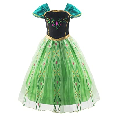 Padete Little Girls Snow Princess Party Dress up: Clothing