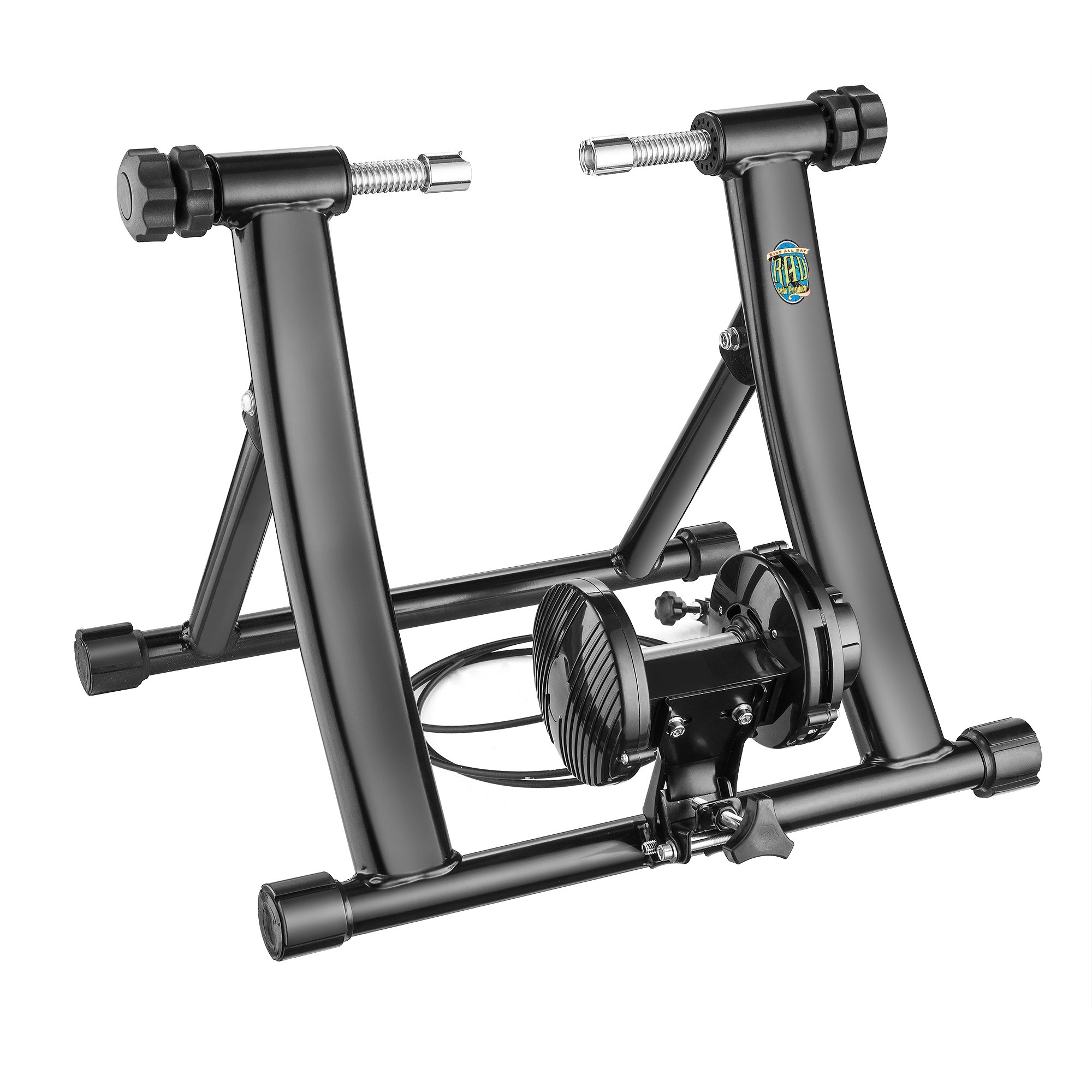 RAD Cycle Products RAD Mag Elite 9 Levels of with Smooth Magnetic Resistance Bicycle Trainer Allows You to Work Out with Your Bike