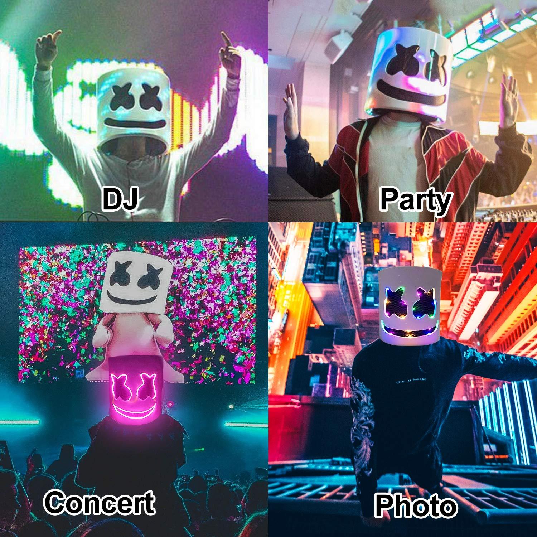 DJ LED Mask Music Festival Party Halloween Light Up Mask Carnival DJ Helmet