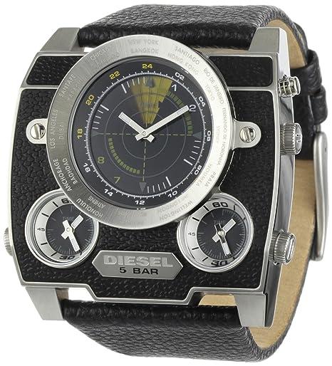 Diesel DZ1243 - Reloj de caballero de cuarzo, correa de piel color negro: Amazon.es: Relojes