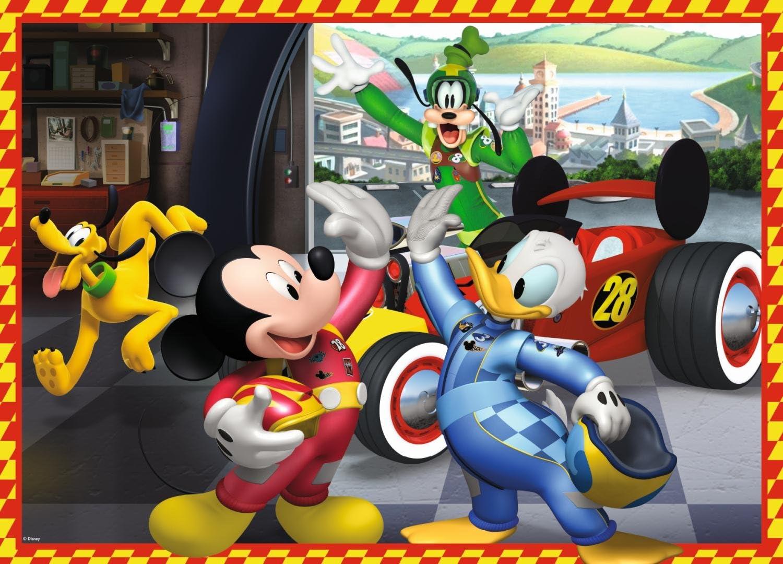 Jumbo Disney Mickey and The Roadster Racers Giant Floor Puzzle 50 pcs Rompecabezas para Suelo, Dibujos, Ni/ños, Mickey Mouse, Ni/ño, 4 a/ño s Rompecabezas