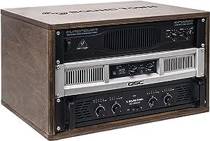 Sound Town 6U Studio Rack with Birch Plywood, for Recording Room, PA/DJ Pro Audio, Home Audio, Weathered Gray (SDRK-6B)