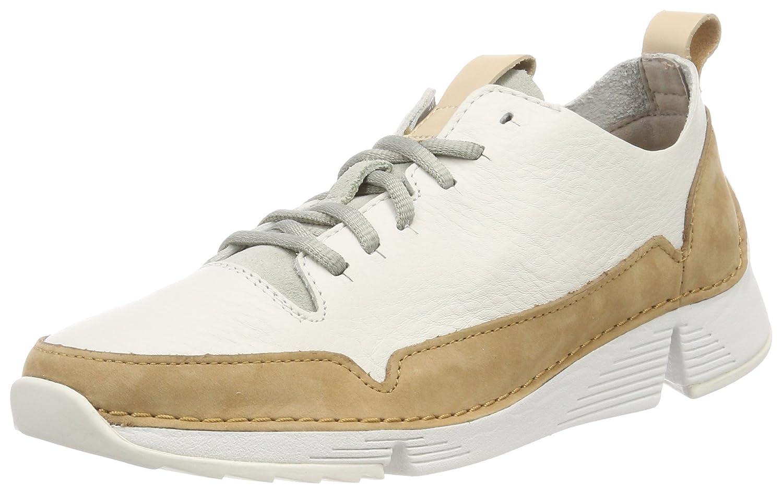 Clarks Tri Spark, Zapatillas para Mujer 42 EU Blanco (White Leather -)