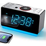 Radio Alarm Clock Bedside Alarm Clock Dual Alarm,FM Radio Clock,Auto Brightness,Dimmer Control,Bluetooth, Snooze, Sleep Timer,USB Charging,Auxiliary Input,Backup Battery (iTOMA CKS708)