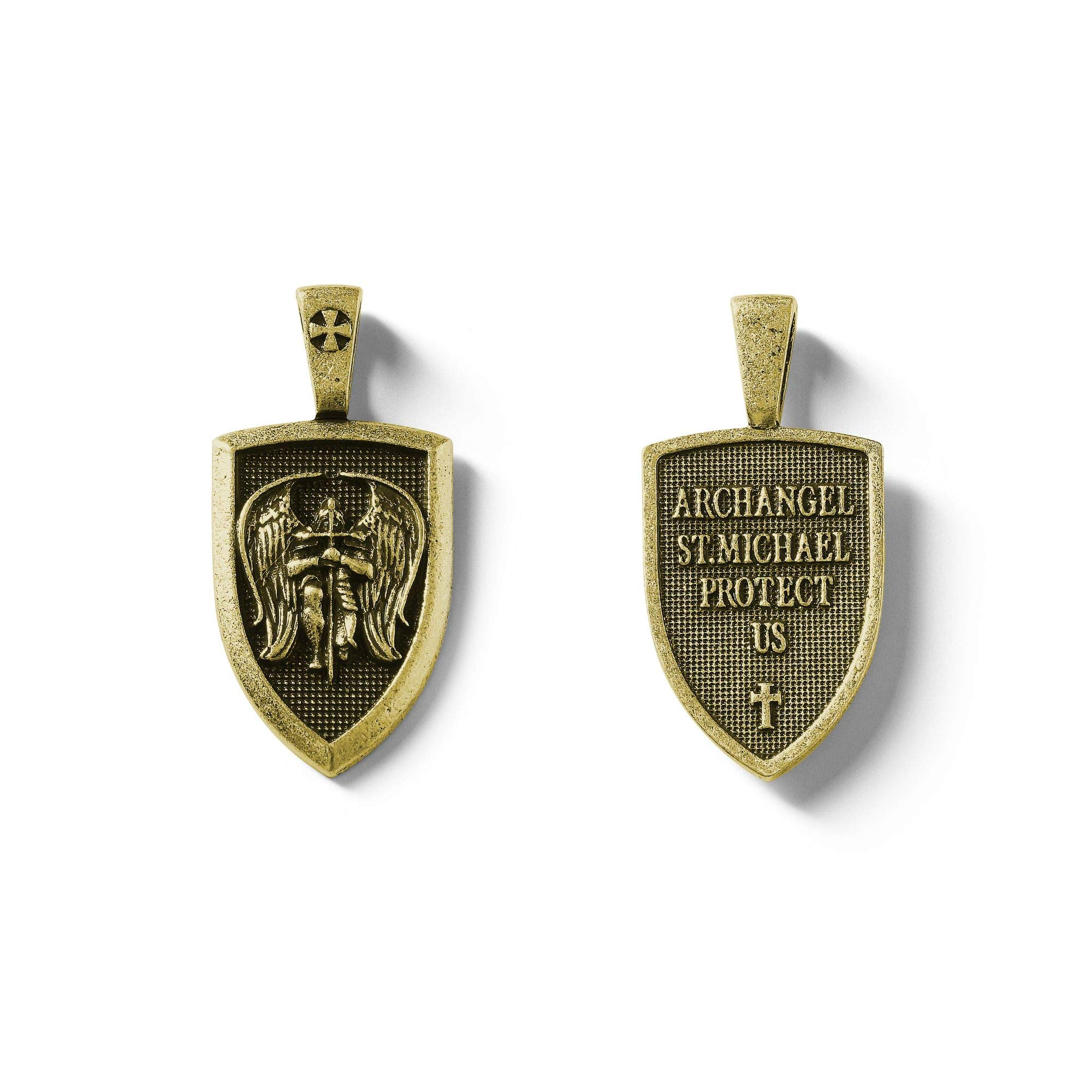 HANDMADE JEWELLERY - Viking Necklace Archangel St.Michael Protect Me Saint Shield Protection Pendant Jewelry -Gift for Men - Women - Adult - Luxury Gift (style4)