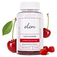 ELON – Chewable Gummy Hair, Skin & Nail Vitamins – 60 Count – Professionally Formulated...