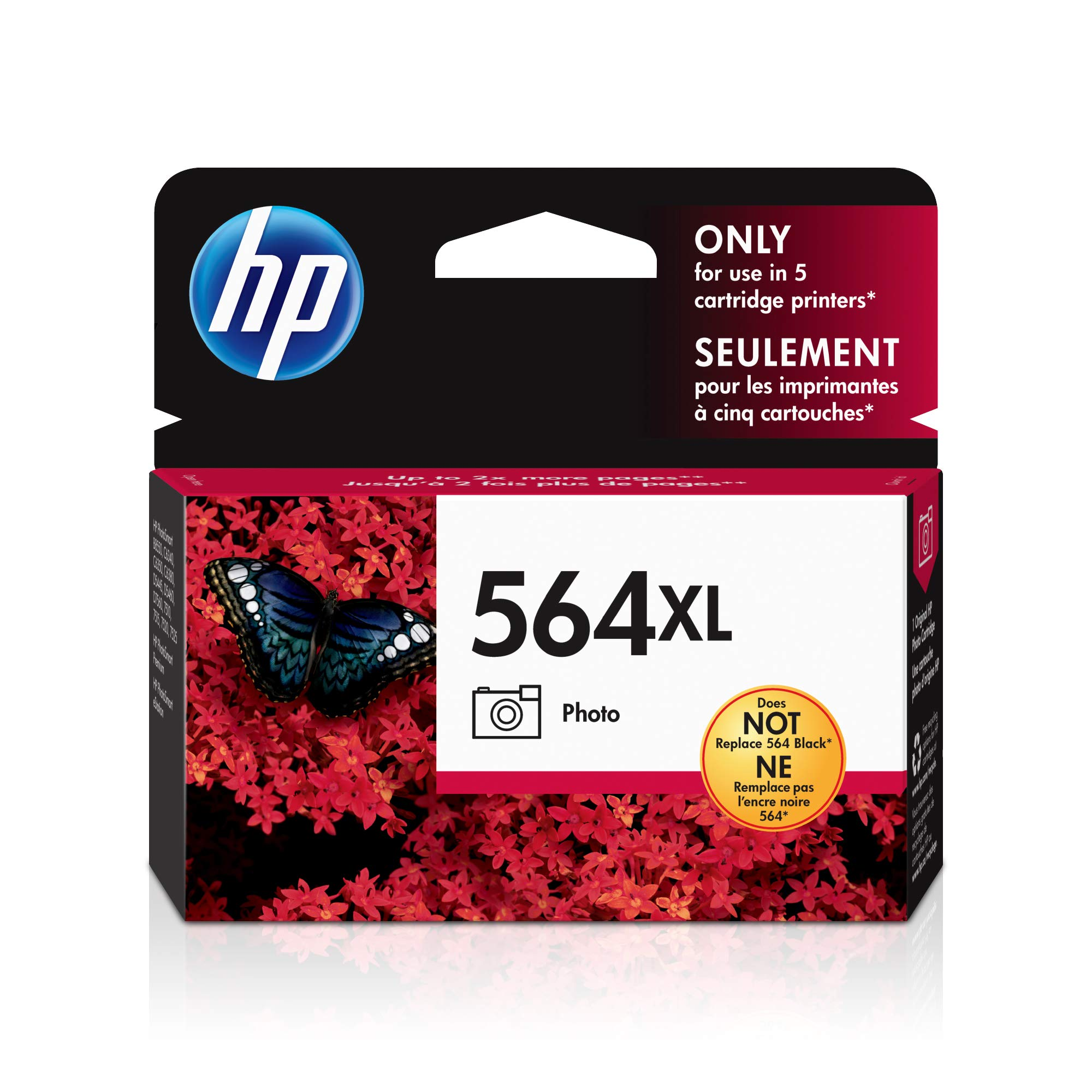 HP 564XL | Ink Cartridge | Photo | Works with HP Photosmart 7500 Series, C6300 Series, C510a, C309g, C310a, C410a, C309n, C311a | CB322WN