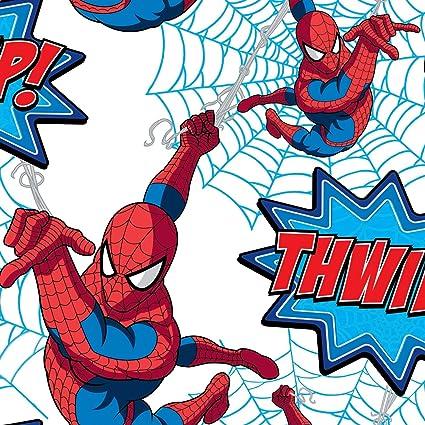 Graham Brown Spiderman Marvel Comics Wallpaper 10m Roll White
