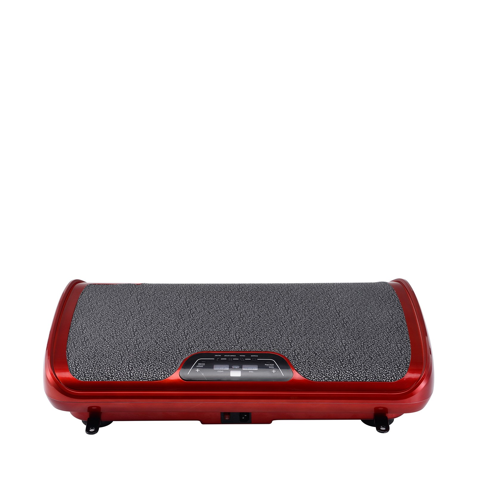 VibroSlim Tone Vibration Platform Fitness Machine, Oscillating Vibration Trainer + Free Workout DVD, Wall Chart & Resistance Bands (Red) by VibroSlim (Image #4)
