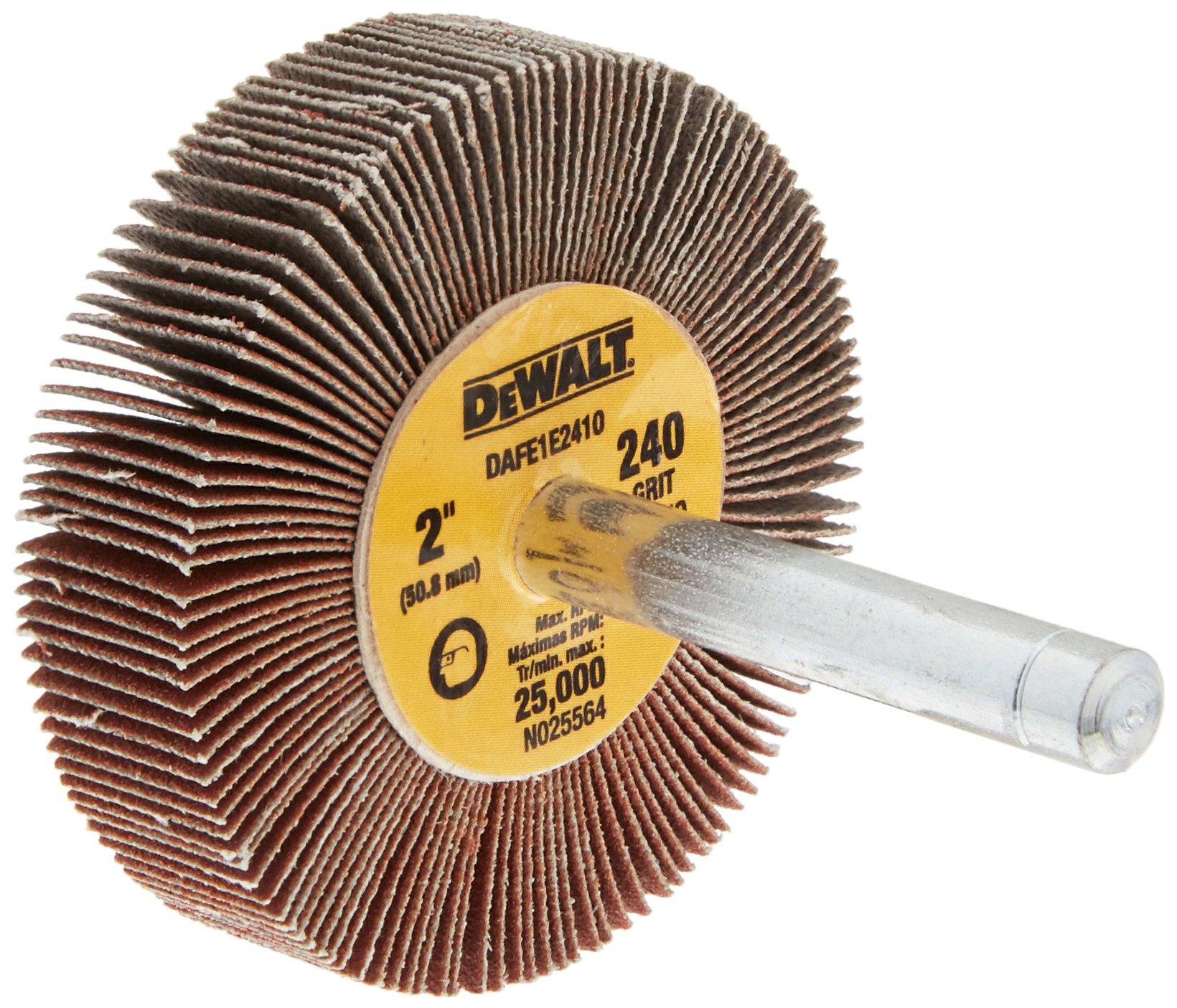 DEWALT DAFE1E2410 2-Inch by 1/2-Inch by 1/4-Inch HP 240g Flap Wheel