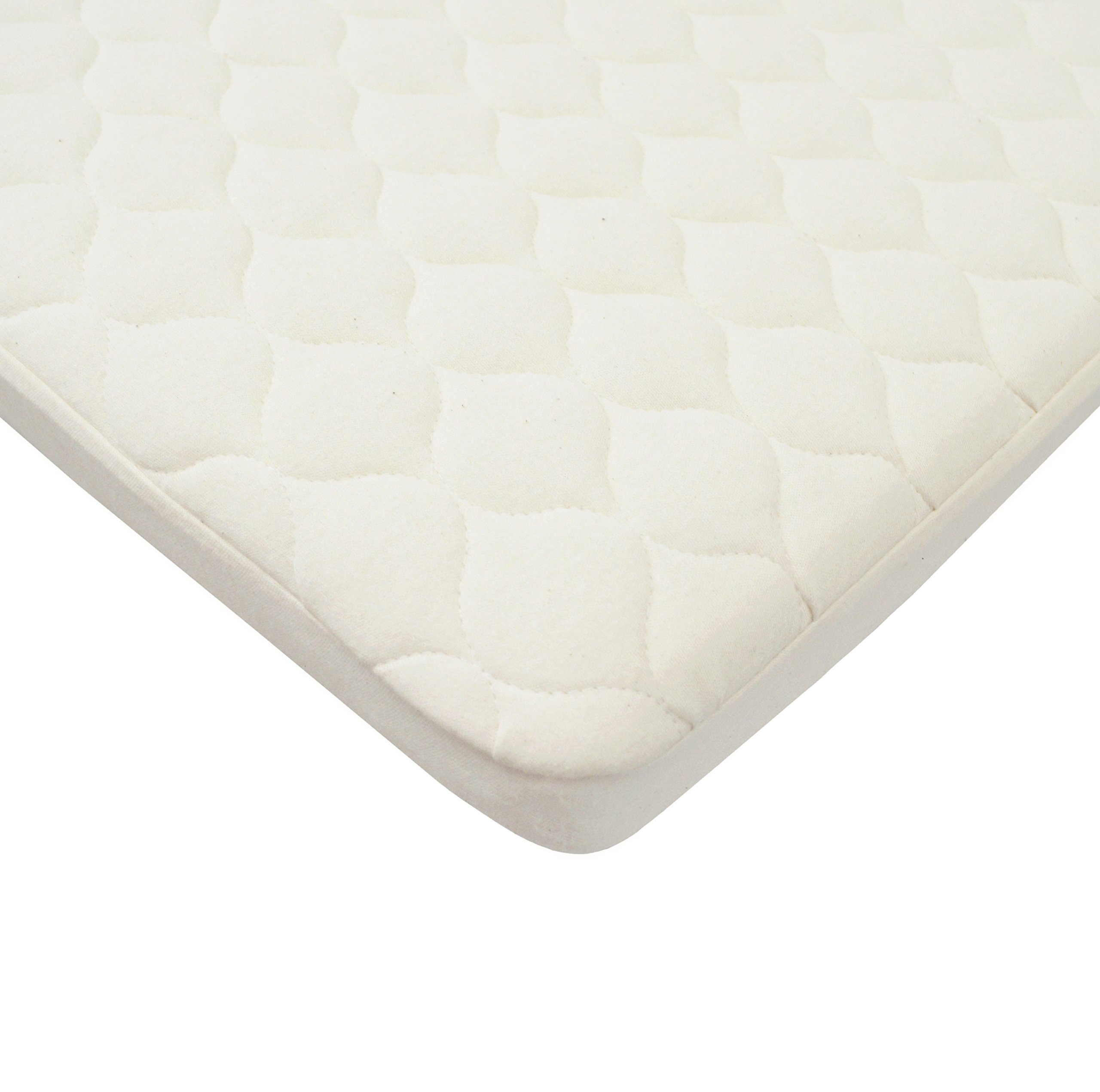 American Baby Company Waterproof Quilted Bassinet Mattress Pad Cover made with Organic Cotton, Natural Color - Vinyl Free