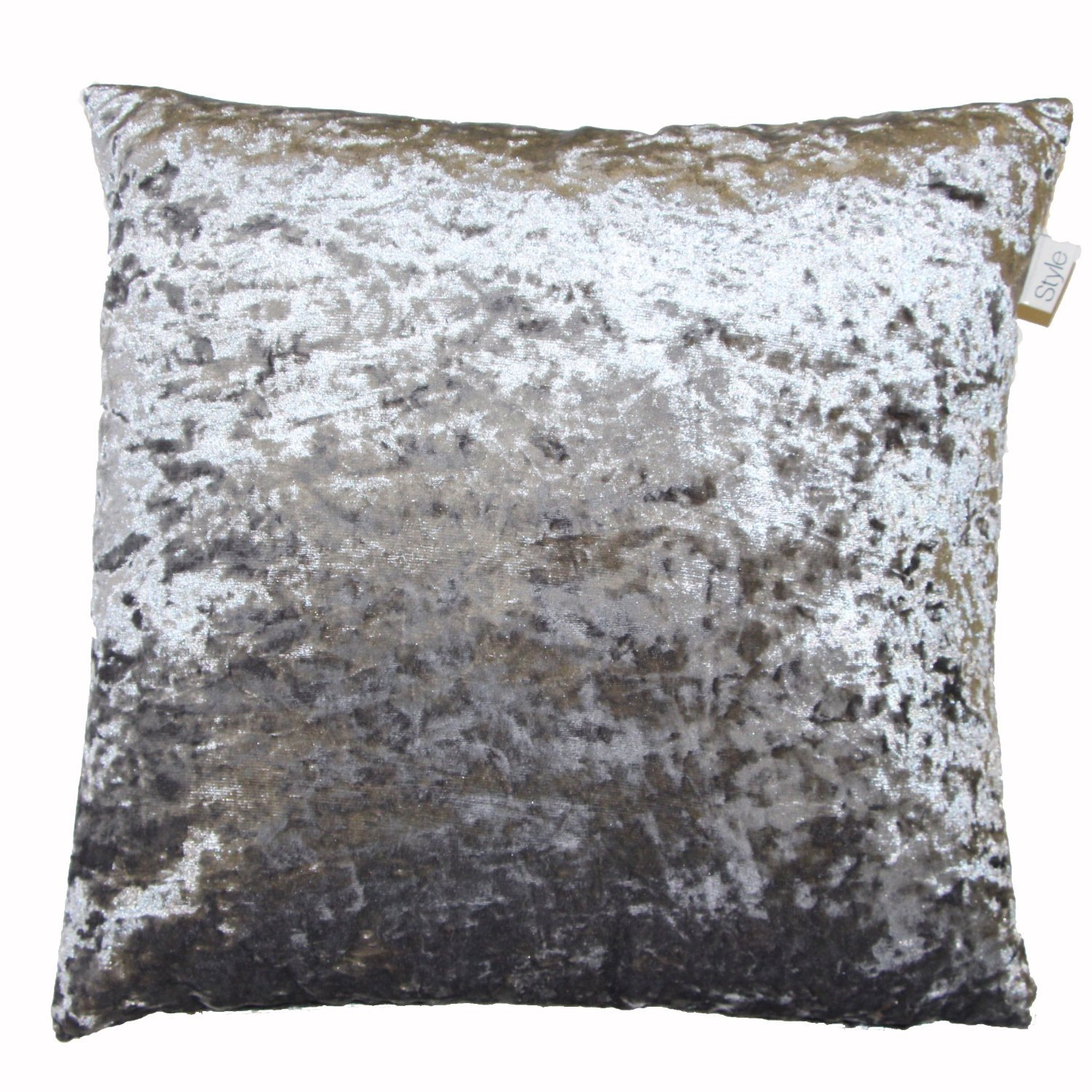 "LUXURIOUS VELVET CUSHION COVER SILVER GREY 17"" X 17"" 43cm x 43cm"