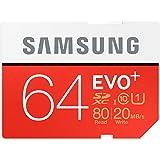 Samsung Memory Carte Mémoire 64GB EVO Plus SDXC UHS-I Grade 1 Classe 10