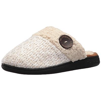 Dearfoams Women's Textured Knit Closed Toe Scuff | Slippers