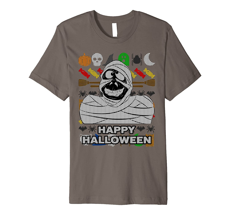 Mummy Ugly Halloween Premium T-shirt - Happy Halloween