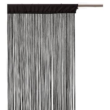 Rideau fils - 120 x 240 cm - Noir: Amazon.fr: Cuisine & Maison