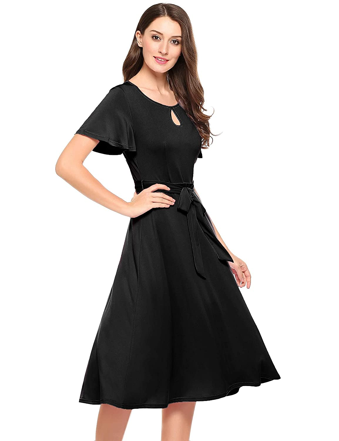 ccdb1a78ce5 dozenla Stunning Curvy Beautiful Fashion Sexy Elegant Tunic Dress Casual  Dress for Women Short Dress for Party Dresses at Amazon Women s Clothing  store