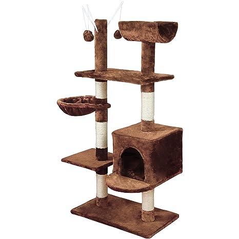 KExing Árboles para Gatos Rascador para Gatos Sisal Plush con ...