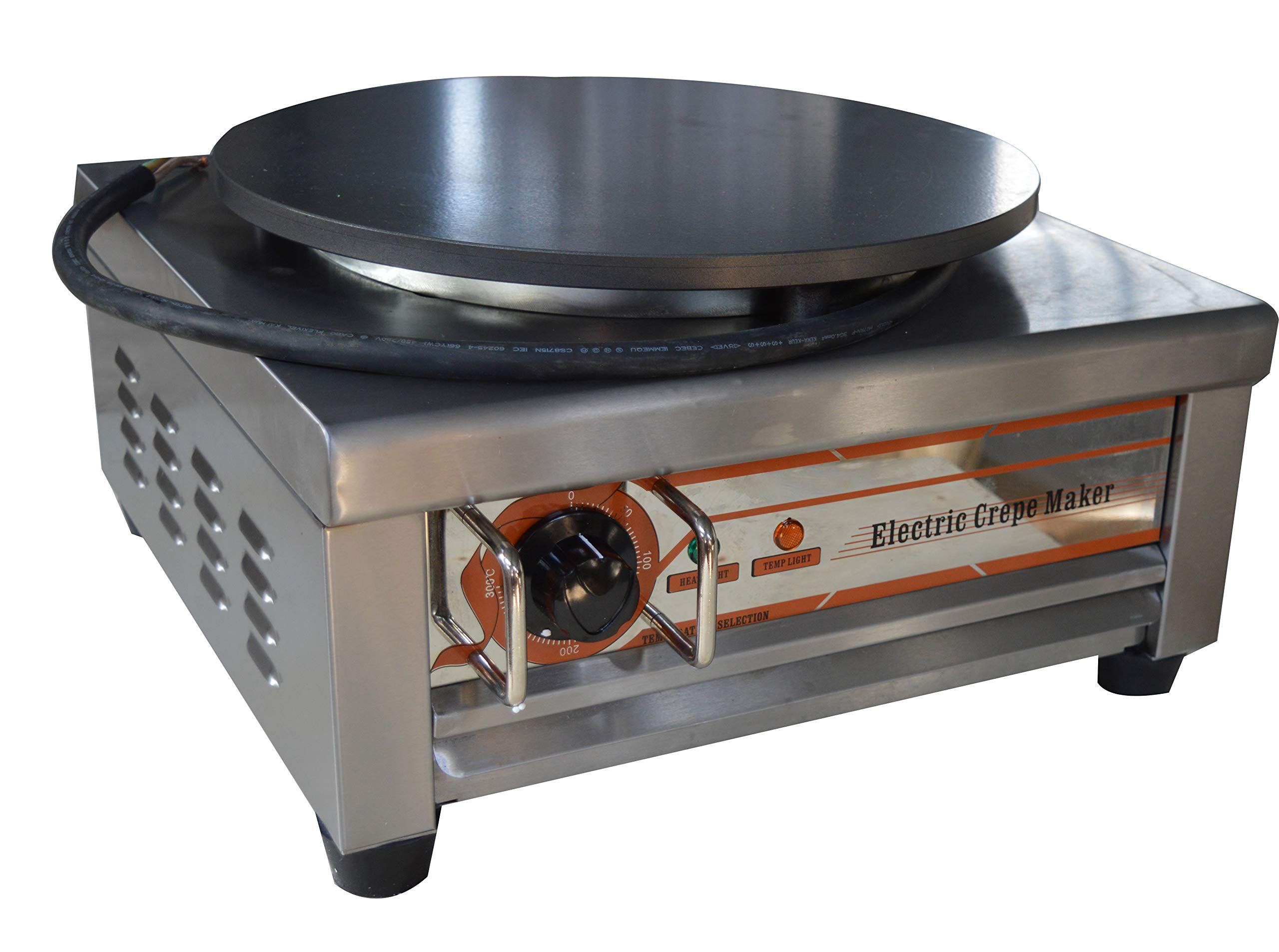 Techtongda Crepe Maker Machine Pancake Griddle Commercial Electric Kitchen 110V 2.6KW by TECHTONGDA