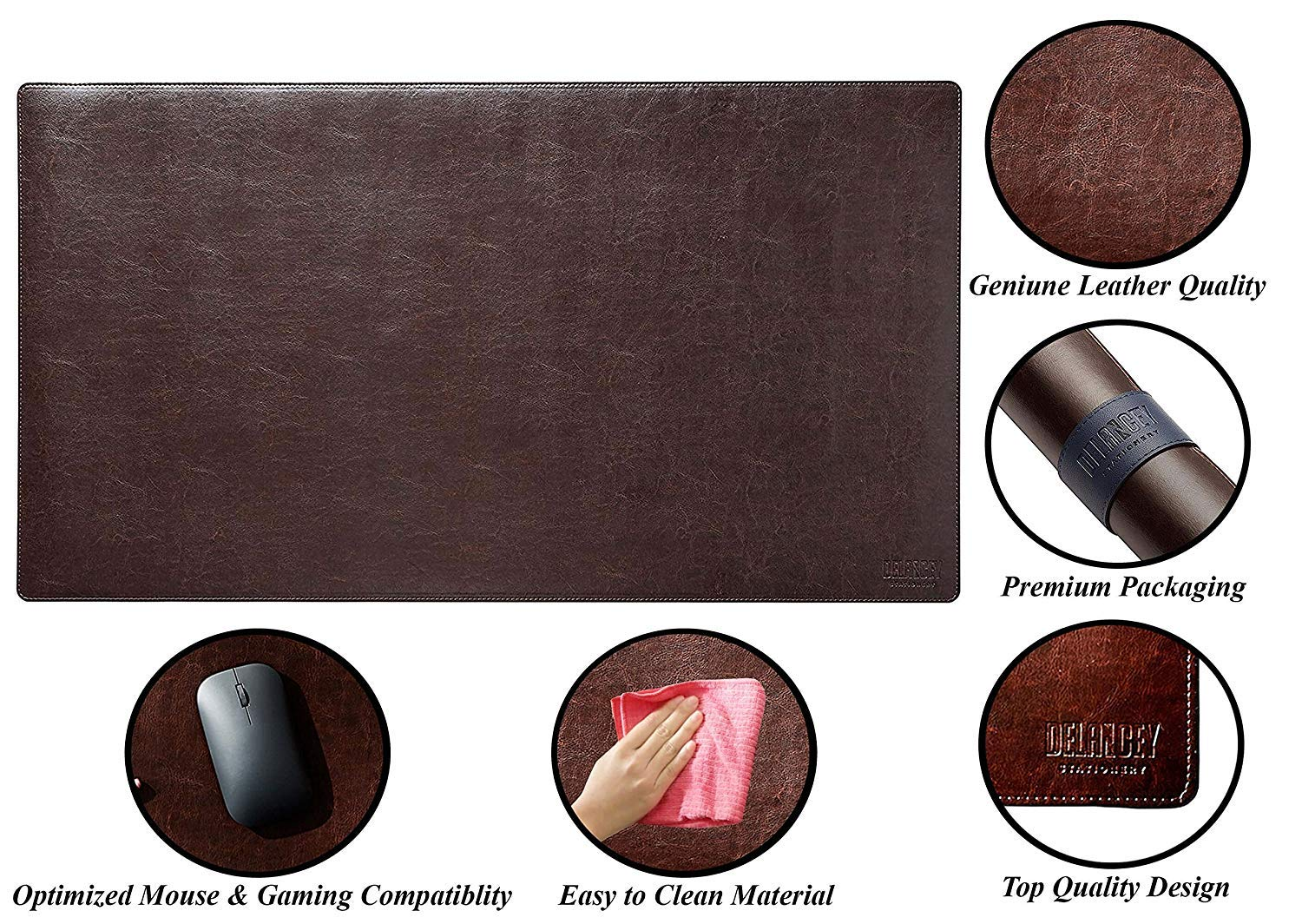 Desk Mat Protector 36 Quot X 20 Quot Pu Leather Desk Pad Blotter