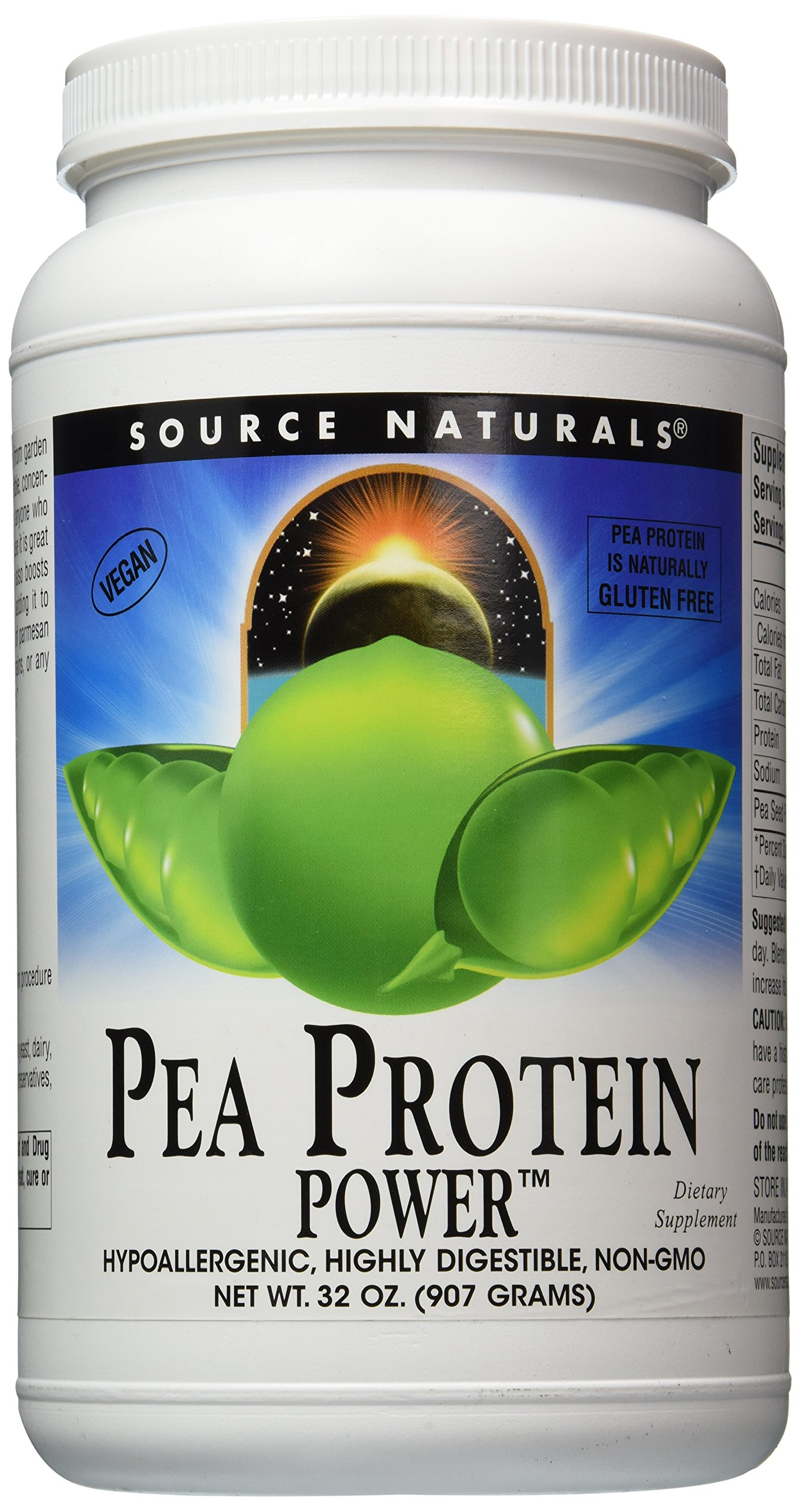 Source Naturals Pea Protein Power, Hypoallergenic, Highly Digestible, Non-GMO