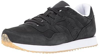 Saucony Originals Men's Dxn Trainer CL Nubuck Sneaker, Black, 7 Medium US