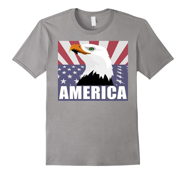 Bald Eagle Tshirt July 4th Patriotic Proud Tees Celebration-Vaci