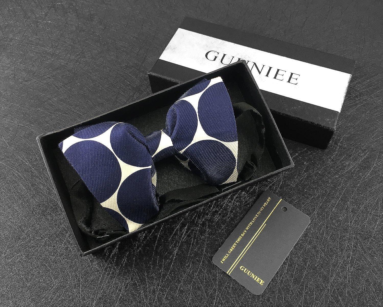 Mens 100/% Silk Oversized Pre-tied Bowtie Handmade Solid Formal Tuxedo Big Bow Ties