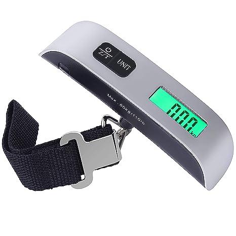 Portátiles Escala de Equipaje Básculas Electrónicas de Maleta Peso Ligero para Viajar de Hasta 110 lb