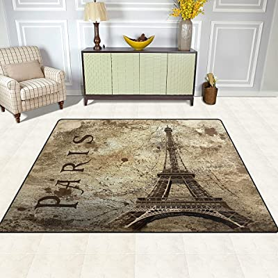 Buy Alaza Vintage Paris Eiffel Tower Area Rug For Living Room Bedroom 5 3x4 Online In Hungary B071l5pqf5