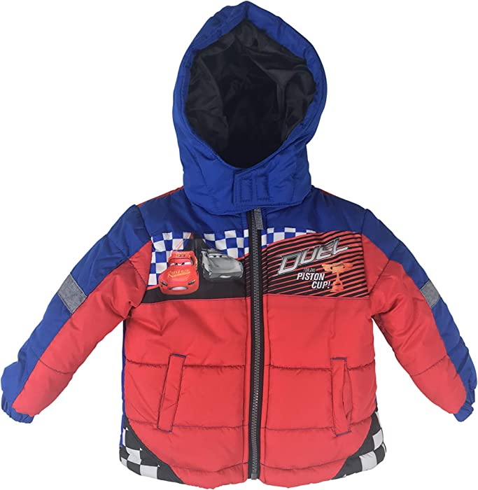 6aa4faaf600a Amazon.com  Dreamwave Toddler Boy Cars Puffer Jacket 2T  Clothing