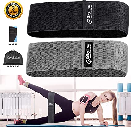 Resistance Bands Heavy Duty Exercise Fitness Loop Set for Gym Stretch Hip Leg