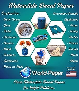 Amazon.com: Tobogán de agua calcomanía de papel para ...