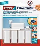 tesa Powerstrips® Kabel-Clip, selbstklebend, spurlos wieder ablösbar, weiß (2 Packung = 10 Clips)