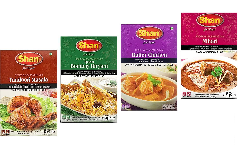 Shan Spices - Variety Combo #1 (Tandoori, Butter Chicken, Bombay Biryani, Nihari)